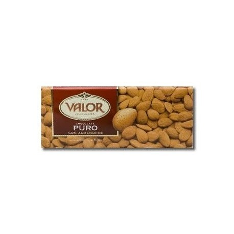 Valor chocolate puro almedra tableta 250 grs