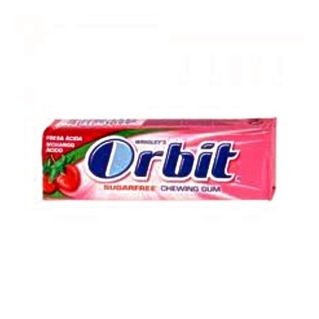 chicle orbit fresa sin azucar 30 u. grageas