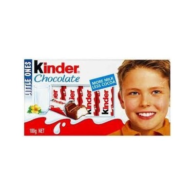 Chocolatinas kinder chocolate t.8 estuche 10 u. x 100 gr.