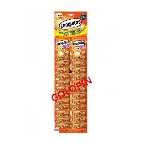 CONGUITOS CHOCOLATE BLANCO EXPOSITOR 24 UDES X 20 GRS