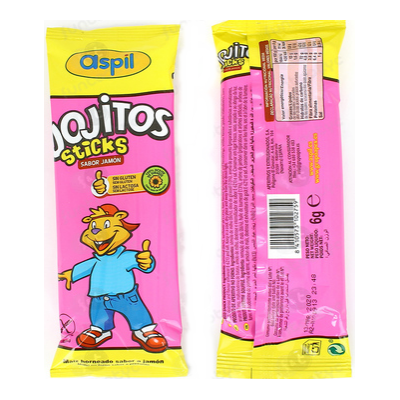 ASPIL JOJITOS STICKS SABOR JAMON 6 GRS