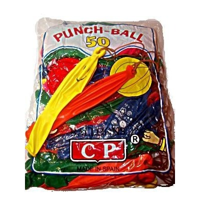 globos de arroz punch ball colores bolsa 50 udes.